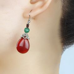 diy red earrings - Căutare Google