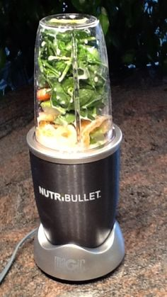 The photo shows my NutriBullet filled with what I had for breakfast yesterday: spinach, carrots, strawberries, raspberries, avocado, pineapple, oranges, apples, a bit of honey & almond milk.  A friend asked me if the drink really, truly tasted good.  I told her it really truly tasted terrific! |Pinned from PinTo for iPad|