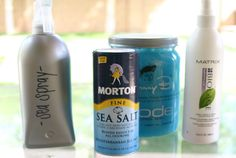 Make your own sea salt spray... perfect for the beach hair look. Tutorial by Girls with Good Style