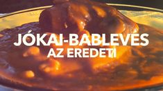 Jókai-Bableves - az eredeti Beef, Food, Youtube, Meals, Yemek, Youtubers, Youtube Movies, Steak, Eten