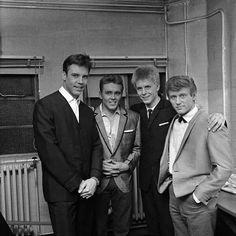 Billy Fury with Marty Wilde, Joe Brown and John Leyton.