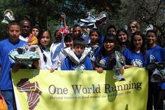 One World Running | donate new/nearly new athletic shoes for shelter residents in the U.S. and elsewhere.