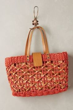 ef6c3b9a3d11 Vincent Pradier Woven Abaca Tote  anthrofave Straw Handbags