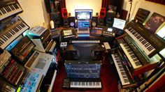 It's time for another weekly roundup of show off your studio shots, we've had a huge reaction this week. Design Studio Office, Studio Layout, Studio Setup, Music Production Equipment, Acoustic Guitar Chords, Studio Living, House Studio, Studio Build, Recording Studio Design