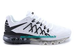 detailed look eaac1 bf2fd Nike Air Max 2015 Chaussures Nike Sportswear Pas Cher Pour Homme Noir/Blanc  698902-