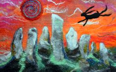 """""""The Hare of Callanish"""" from Wilderness Felt on Facebook and Etsy """"sold"""""""