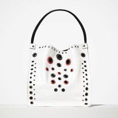 """The new tote in optic white leather with metal grommets.  #proenzaschouler #liketkit @liketoknow.it www.liketk.it/01KO"""