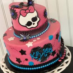 My daughters Monster High bday cake!