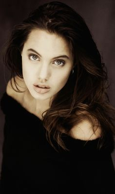 A very young and just as beautiful Angelina Jolie.