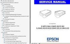 L130, L132, L220, L222, L310, L312, L313, L360, L362, L363, L365, L366 printers Service Manual New! - Service Manuals download service