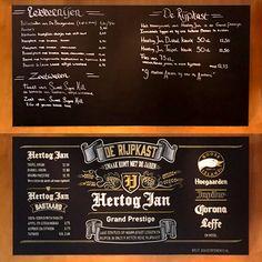 Le Grand Café, Arnhem – Bold Statements Chalkboard Custom Handlettering - Before and after