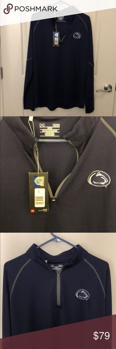 Under Armour Penn State 1/4 ZIP Pullover Under Armour quarter zip pullover. Penn State Branded. NEW with Tags. Nittany Lion Blue. Size Large. Light weight, great for fall football games. Under Armour Jackets & Coats Lightweight & Shirt Jackets
