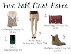Fall Fashion must haves! prettyandfresh.com