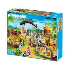 PLAYMOBIL Large Zoo with Entrance Large Zoo. Entrance area with ticket counter and gift shop. Variable blockable enclosures with african animals and lots of Anaconda, The Zoo, Black Friday Toy Deals, Playmobil Sets, City Zoo, Lego Animals, Bookmarks Kids, Preschool Toys, Sea Fishing