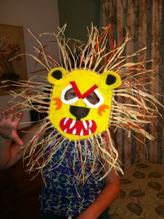 African Lion Mask Craft Project