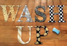 Painted Wood Letter // Custom Painted Wood by MicheleSpragueDesign