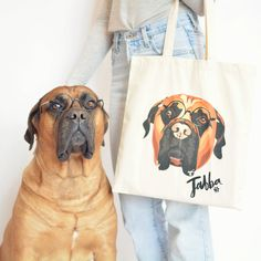 Custom pet canvas bag