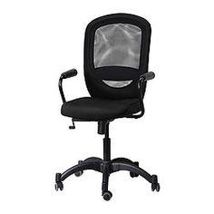VILGOT/NOMINELL Käsinojallinen työtuoli - musta - IKEA