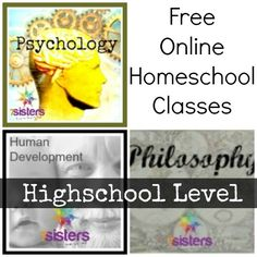 Free Online Homeschool Classes: Psychology, Human Development, and Philosopy {Highschool Level} - http://www.freehomeschooldeals.com/free-online-homeschool-classes-psychology-human-development-and-philosopy-highschool-level/