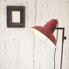 Tripod Floor Lamp » distressed industrial finish, ideal for eclectic home >> Pretty Dandy