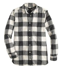 buffalo check flannel shirt / j.crew