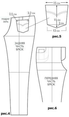 Выкройка джинсов | pokroyka.ru-уроки кроя и шитья