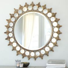Crown Sunburst Mirror   Ballard Designshttp://www.ballarddesigns.com/crown-sunburst-mirror/wall/category/mirrors/all-mirrors/246163