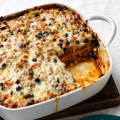 Mexican Black Bean Lasagna