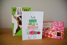 DIY: Maak een leuke verjaardagskaart in 2 minuten Masking Tape, Diys, Gift Wrapping, Om, Dragon Flies, Duct Tape, Gift Wrapping Paper, Bricolage, Wrapping Gifts