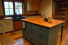 Central Kentucky Log Cabin Primitive Kitchen - eclectic - kitchen - louisville - The Workshops of David T. Smith