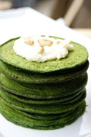 Zero in cucina: Pancakes alle bietole con crema di caviolfiore e pecorino