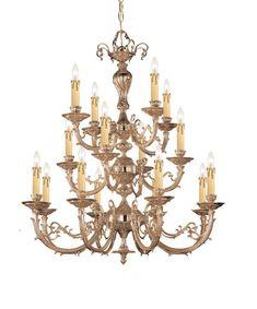 Crystorama Ornate Cast Brass Chandelier 8 Lights - Olde Brass - 490-OB