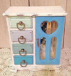 Teen Jewelry Box Jewelry Boxjewelry Storagevintage Jewelry Boxpainted Jewelry Box
