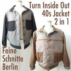 feine_schnitte_berlin #InsideOut #jacket #wooltweed #wool #wolle #schurwolle #1940 #1940s #vierziger #vierzigerjahre #vintage #vintagestyle #vintagejacket #jacke #wolljacke #sportjacke #blouson #baseball #baseballjacket