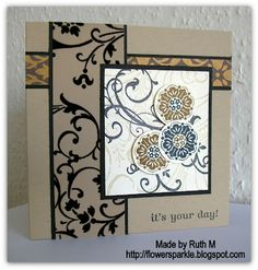 SU! only card I made for a Simply Stampin' sketch challenge