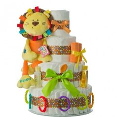 Our gender-neutral diaper cakes are the perfect baby gift for when the gender is a surprise! Browse a wide selection of diaper cakes at Lil' Baby Cakes. Baby Shower Diapers, Baby Shower Cakes, Baby Shower Themes, Baby Shower Gifts, Baby Gifts, Shower Ideas, Diaper Bassinet, Diaper Cake Boy, Nappy Cakes