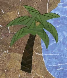 iris folded palm tree