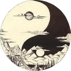 If I was to ever get a yin and yang tattoo, it'd be something like this. And not just the generic black and white, although that's just as beautiful to keep it simple.