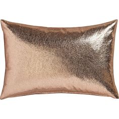 """CB2 Rove 18""""X12"""" Pillow With Feather-Down Insert found on Polyvore featuring home, home decor, throw pillows, plush throw pillows, feather filled throw pillows, cb2 and feather down pillow inserts"""