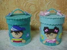 Tin Can Crafts, Diy And Crafts, Beach Canvas Paintings, Aluminum Cans, Storage Baskets, Baby Shoes, Lunch Box, Goodies, Shapes