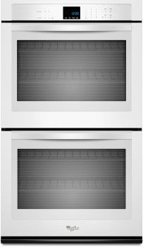 Whirlpool WOD51EC0AW 30 Inch Double Electric Wall Oven with 5.0 cu. ft. per Oven, Self-Cleaning, SteamClean Option, Precision Cooking System and Hidden Bake Element: White