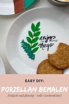 Habt ihr noch altes Geschirr, welches euch nicht mehr ganz anspricht? Höchste Zeit das zu ändern! In meinem Blog zeige ich euch, wie ihr Teller, Tassen & Co selbst gestalten könnt!