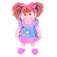 With her brightly coloured hair and playful smock, there's something edgy and fun about Melody. One thing's for sure, though, she'll prove a long lasting and loveable companion! All our dolls help to inspire creative role play sessions and develop a real sense of companionship. Ages 1 years and up. 1 play piece. http://shop.bigjigstoys.co.uk/p/melody