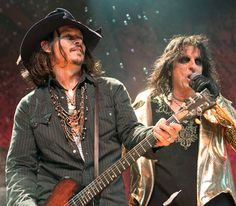 Johnny Depp joined Alice Cooper onstage -- performing an extended setlist together -- during the metal rocker's Nov. 29 concert at the Orpheum Theater in L.A.