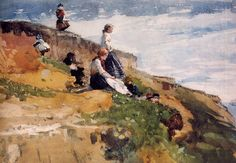 Winslow Homer On the Cliff 1881