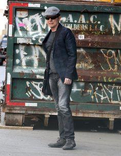 David Bowie hailing a taxi