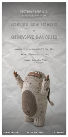 Pictoplasma NYC show - Works by Joshua Ben Longo & Genevieve Gauckler