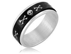 $7.99 - Stainless Steel Skeleton Design Men's Ring