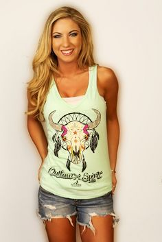 I am obsessed with this tank!! Ali Dee Collection - Outlaw Spirit, $38.00 (http://www.alideecollection.com/outlaw-spirit/)