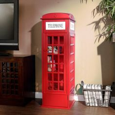 If you pick up the Jasper Phone Booth Cabinet from Holly & Martin and put it out on the street, you'll have people lining up to make calls.